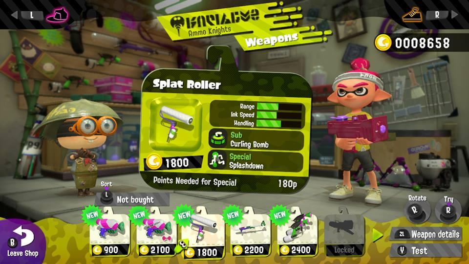Fra og med nivå fire kan man kjøpe nye våpen.