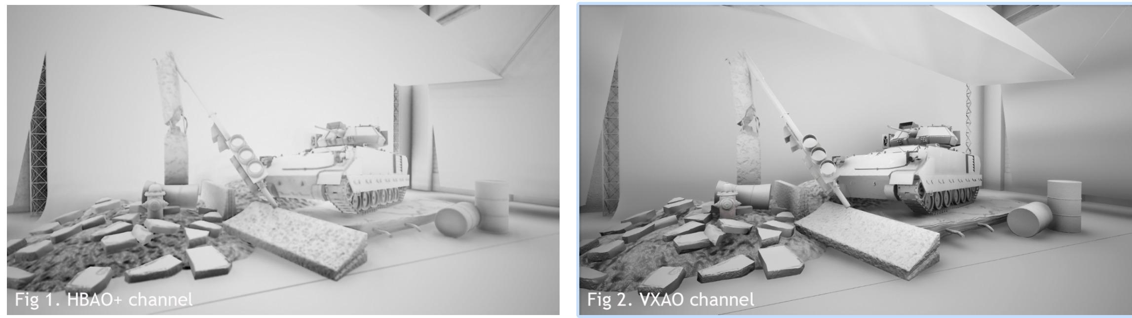 Med og uten Nvidia VXAO. SSAO 3D er Bungies måte å gjøre det på.