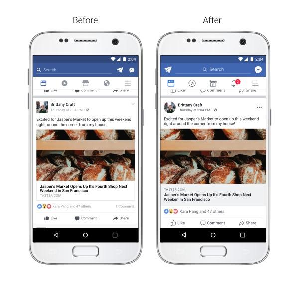 Facebook-appen blir ny.