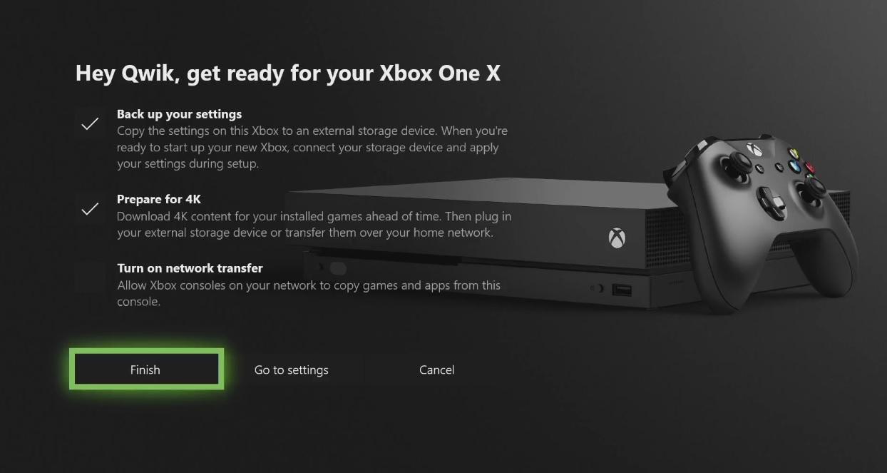 Xbox One X-oppsettet.