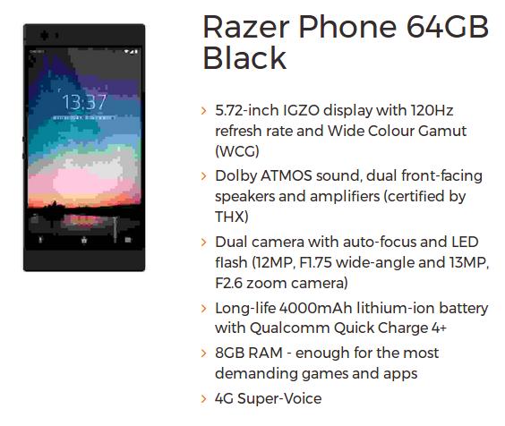 Her er Razer Phone.