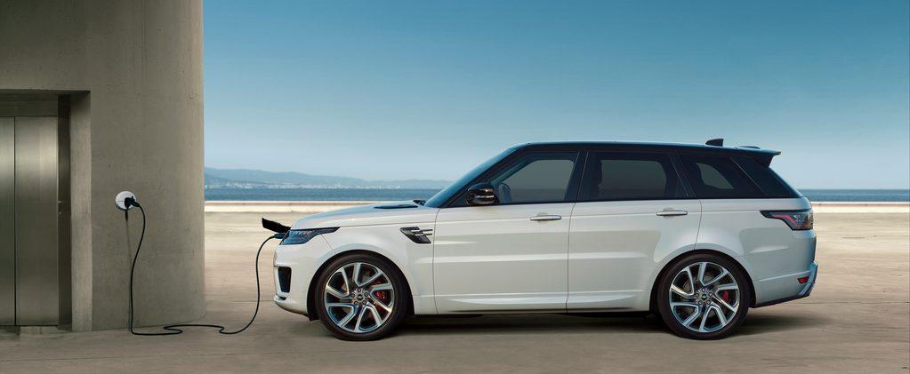 En Range Rover som kan lades.