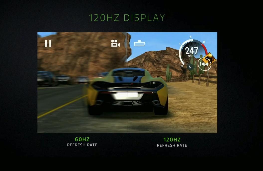 Panelet har 120Hz-oppdatering for en silkemyk spill-opplevelse.