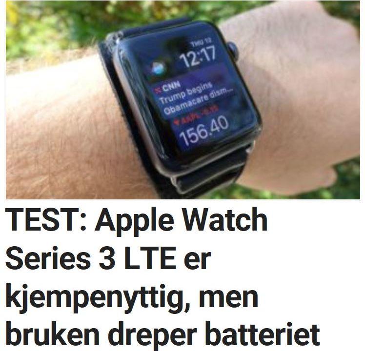Apple Watch 3 med LTE er kjempenyttig.