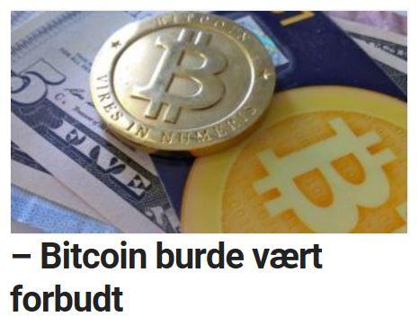 Bitcoin burde vært forbudt.
