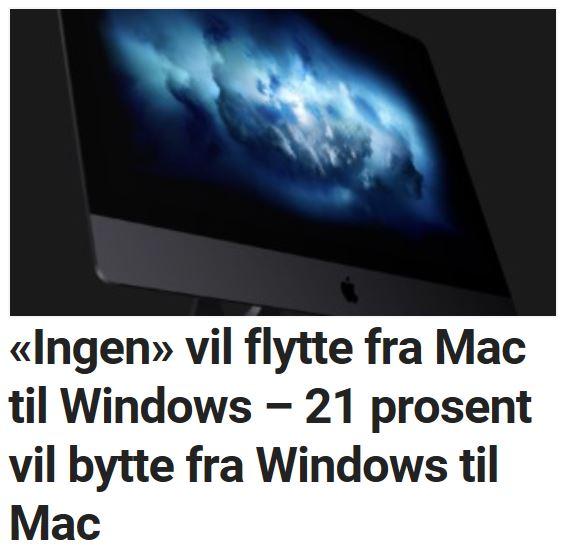 Mac-brukerne foretrekker å bli.