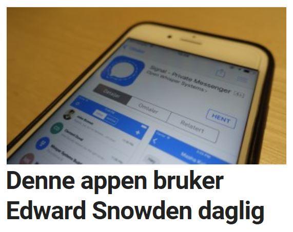 Denne appen bruker Snowden fast.