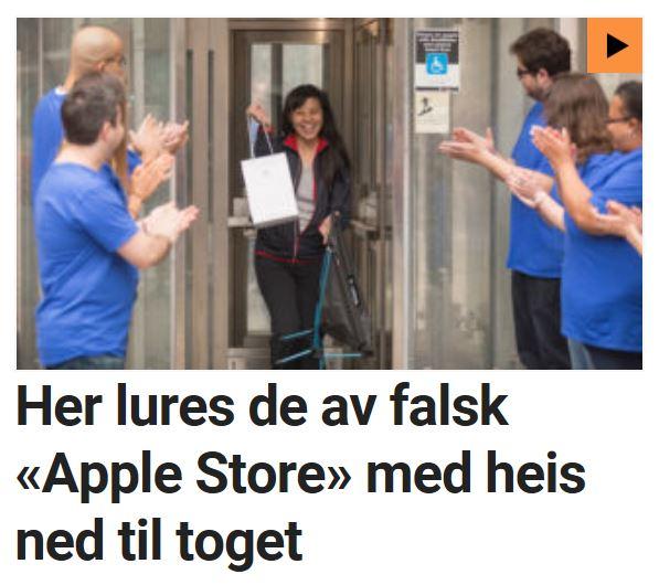 Her lurer de folk med falsk Apple Store.