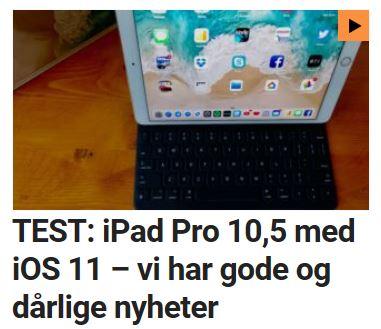 Test: Vi tester iPad Pro 10,5 med iOS 11.