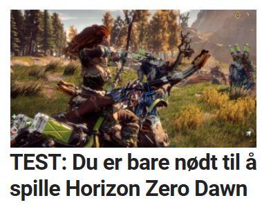 Du er bare nødt til å spille Horizon Zero Dawn.