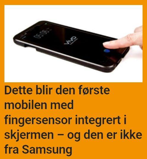 Neste år blir fingersensoren integrert i skjermen.