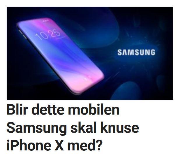 Kommer det også en Galaxy X?