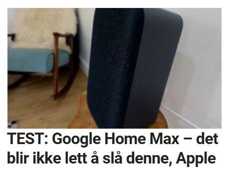 Vi tester Google Home Max.