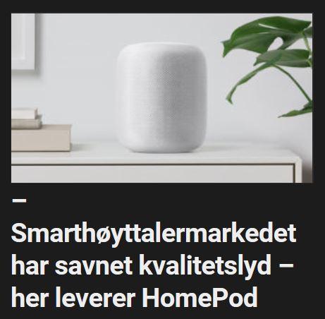 Apple slryter av HomePod.