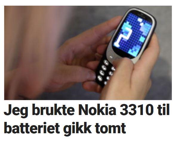 12 lange dager med Nokia 3310.