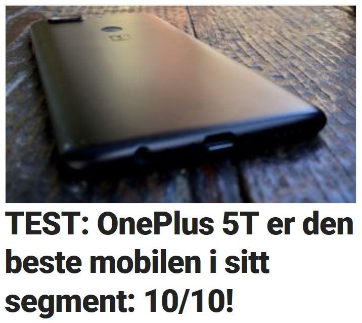 Vi tester OnePlus 5T.