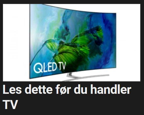 Få med deg disse tipsene før dy kjøper ny TV.