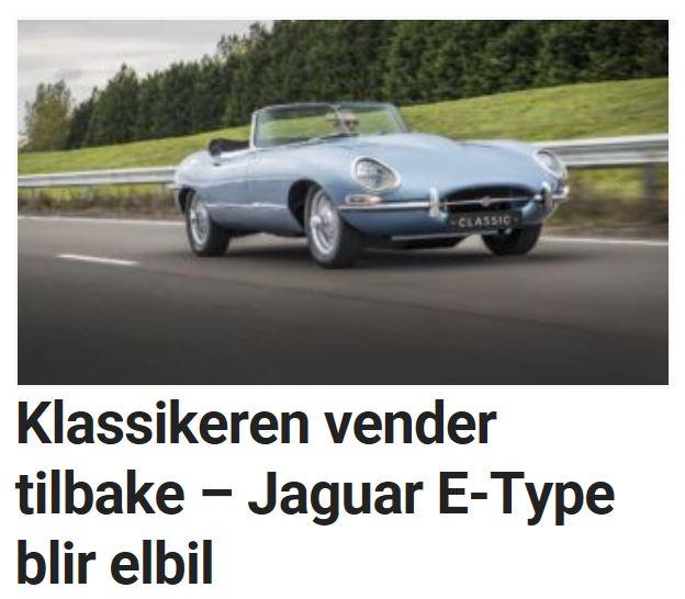 Jaguar E-Type blir elbil.