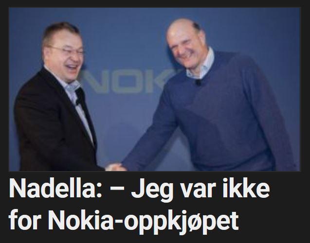 Microsoft-toppen støttet ikke Nokia-oppkjøpet.