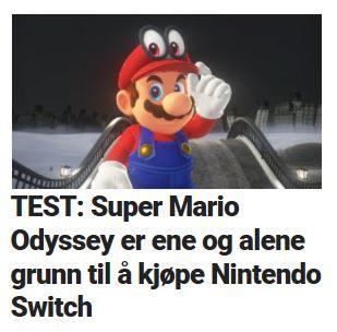 Super Mario Odyssey er et av fjorårets beste spill.