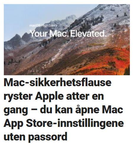 Nok et sikkerhetshull rammer Mac.