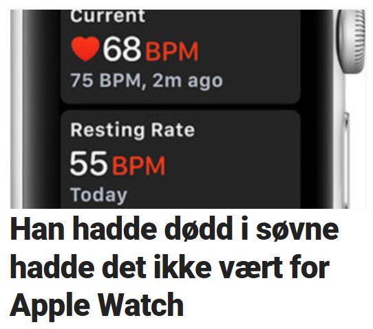 Apple Watch reddet trolig livet hans.
