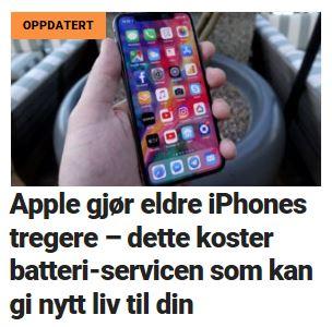 Apple bekrefter at selskapet tukler med kundenes iPhoner.