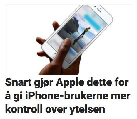 iPhone-brukere får mer batterikontroll.