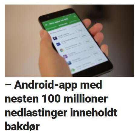 Android-app inneholdt bakdør.