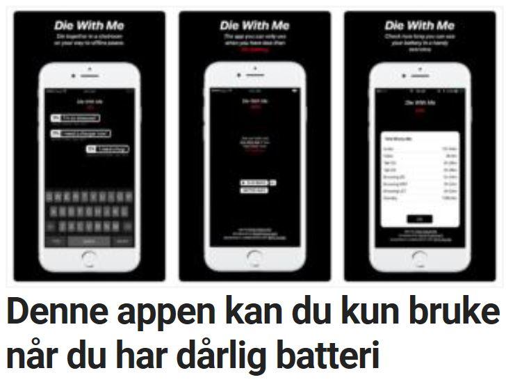 Denne appen fungerer kun når mobilen din har lite batteritid igjen.