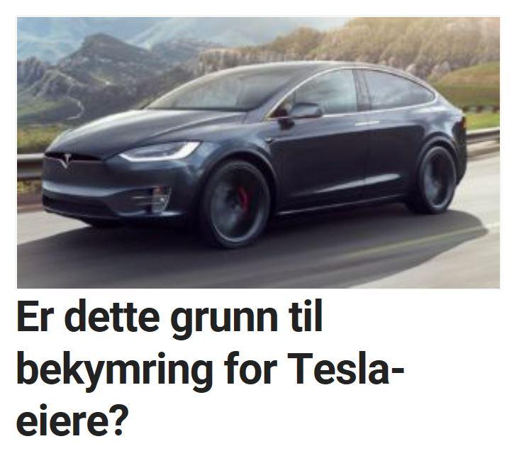 Er dette grunn til bekymring for Tesla-eiere?