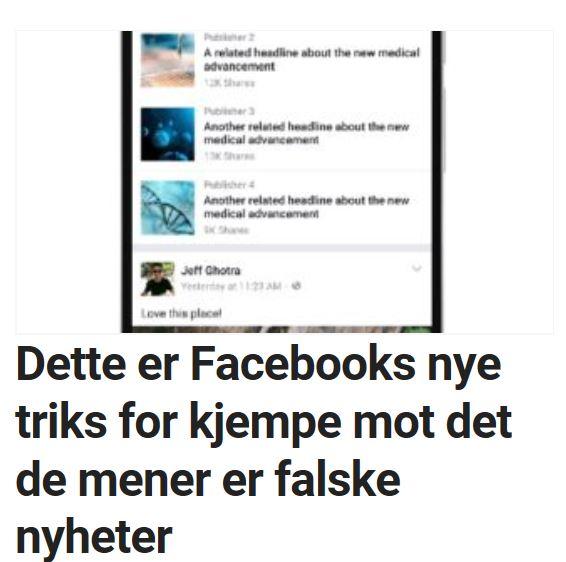 Facebook slår ned på falske nyheter.