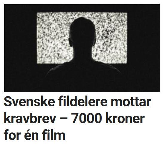 Også svenske fildelere får kravbrev.