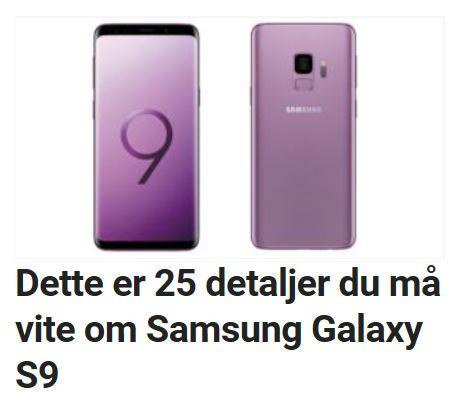 25 detaljer du må vite om Galaxy S9.