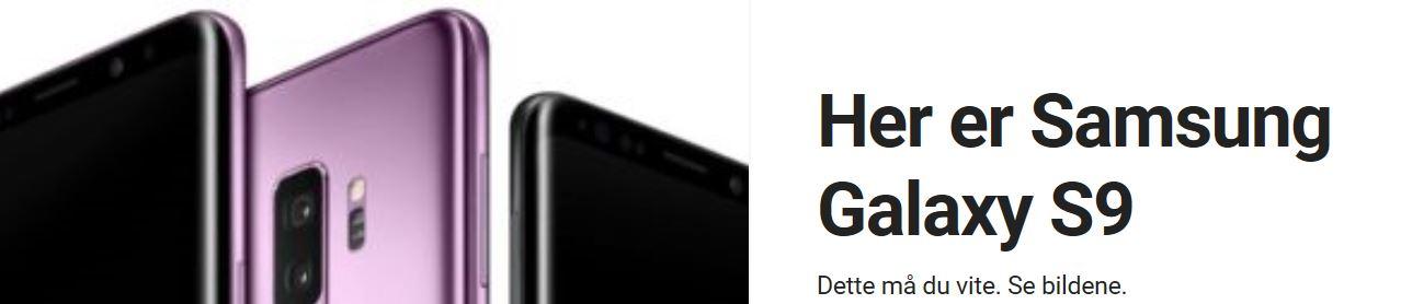 Alt du må vite om Galaxy S9.