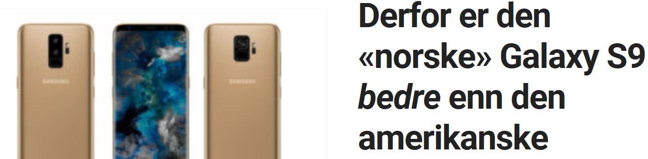 Mer kraft i norsk Galaxy S9.