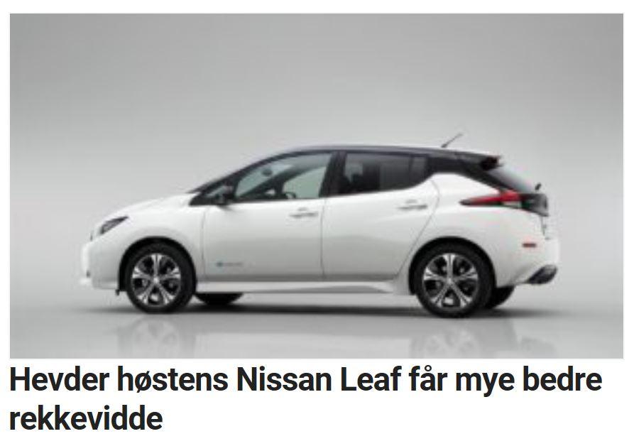 Etter sommeren kommer det en heftigere Nissan Leaf.