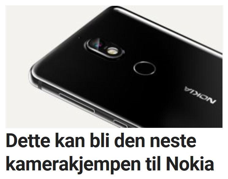 Kamera er viktig for Nokia.