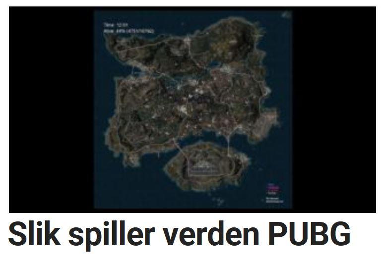 Slik spiller verden PUBG.