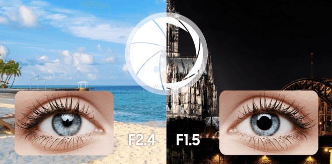Galaxy S9 får variabel blenderåpning.
