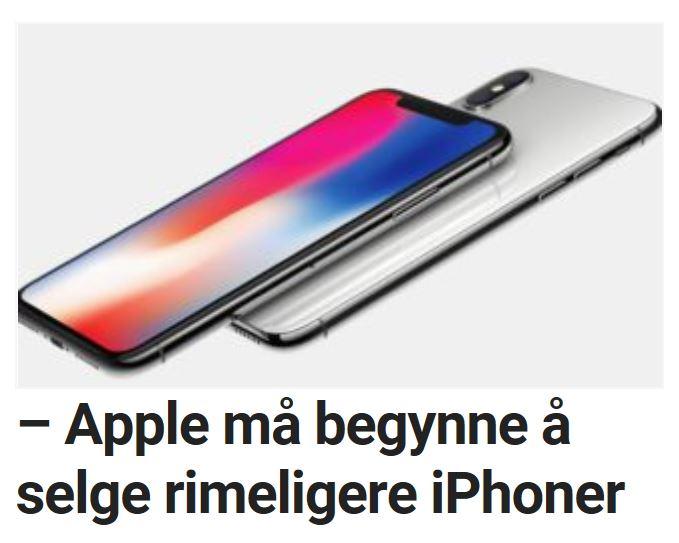 Analytiker mener iPhone må bli rimeligere.