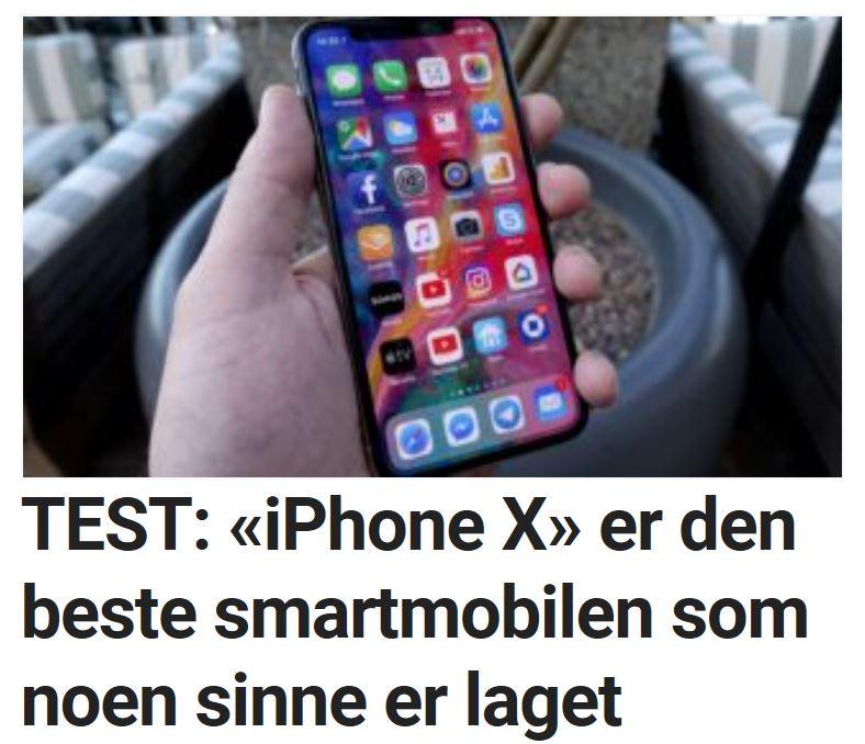 Vi tester iPhone X.