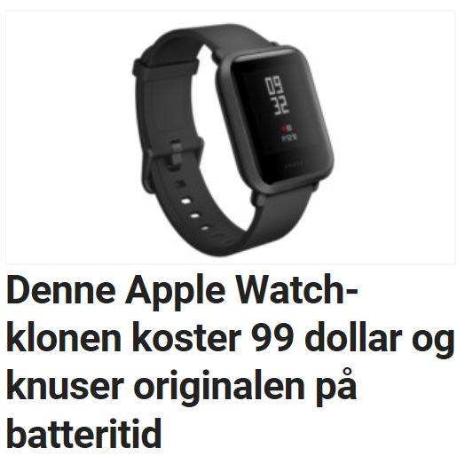 Denne Apple Watch-kopien er både billigere og har bedre batteritid.