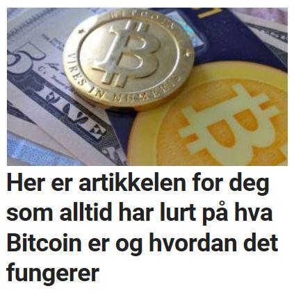 Lurer du på hva bitcoin er?