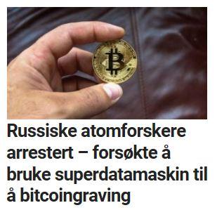 Russiske atomforskere arrestert etter bitcoin-graving.