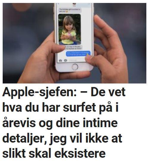 Apple-sjefen: – De vet hva du har surfet på i årevis.