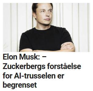 Elon Musk svarer Mark Zuckerberg.