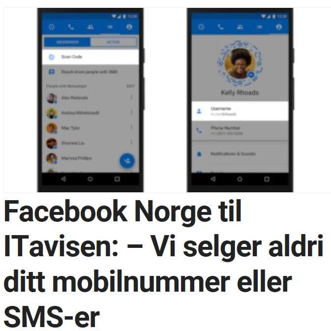 Facebook uttaler seg til ITavisen.
