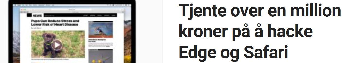 Hacket Edge og Safari.