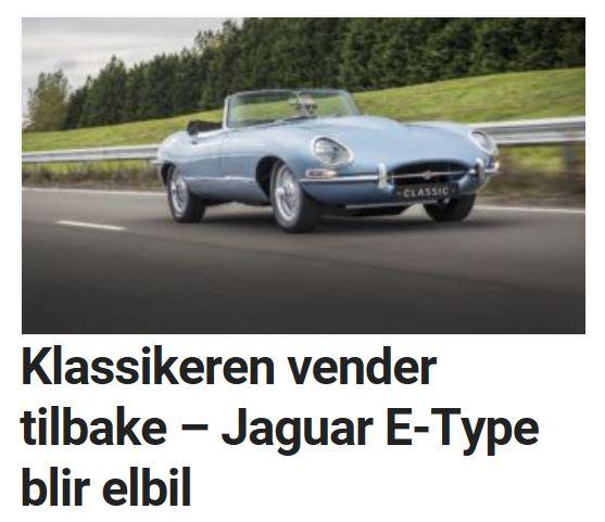 Jaguar jobber også med en spennende relansering.